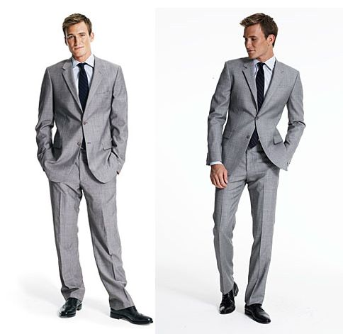 Off the rack grey suit versus made to measure grey suit